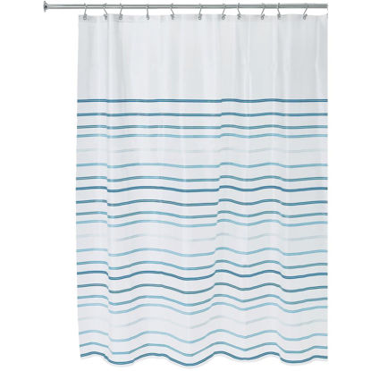 Picture of iDesign 72 In. x 72 In. Lindy Stripe PEVA Shower Curtain