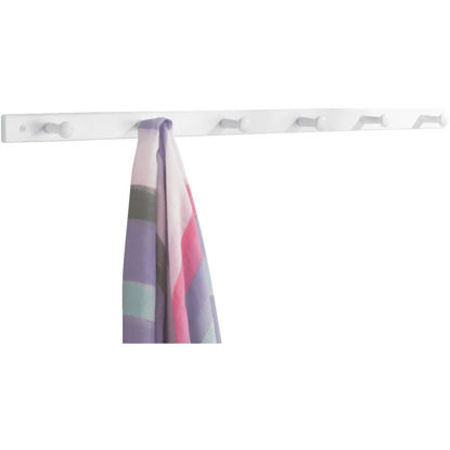 Picture of iDesign White Wood 6-Peg Rack