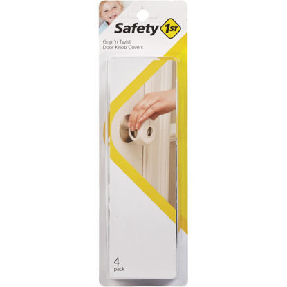 Picture of Safety 1st Grip n' Twist Snap-On White Door Knob Cover (4-Pack)