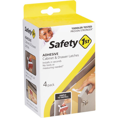 Picture of Safety 1st Adhesive Cabinet & Drawer Lock & Latch (4-Pack)