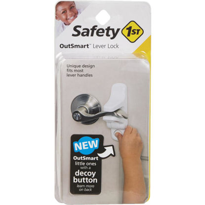 Picture of Safety 1st OutSmart Lever Handle White Door Lock