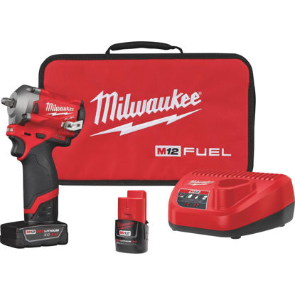 Picture of Milwaukee M12 FUEL 12 Volt Lithium-Ion Brushless 3/8 In. Stubby Cordless Impact Wrench Kit