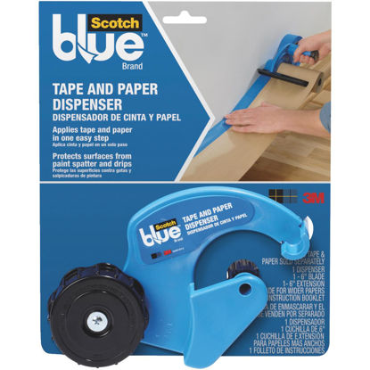 Picture of 3M ScotchBlue Painter's Tape & Paper Dispenser Tool