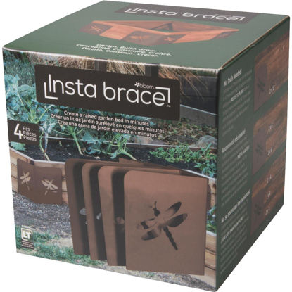 Picture of Bloom Instabrace Brown Steel Dragonfly Raised Garden Bed Bracket (4-Pack)