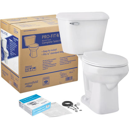 Picture of Mansfield Pro-Fit 4 SmartHeight Round Bowl 1.28 GPF Complete Toilet Kit