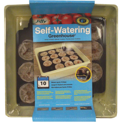 Picture of Jiffy 14-Cell Self-Watering Greenhouse Seed Starter Kit