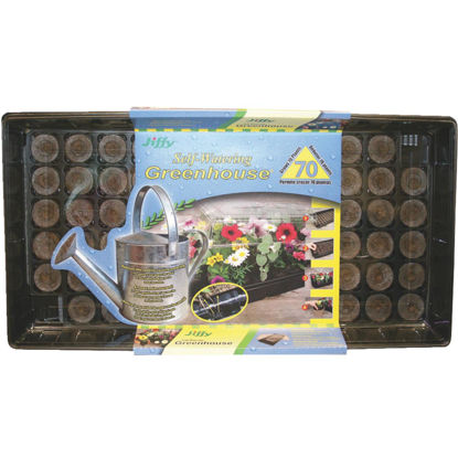 Picture of Jiffy 70-Cell Self-Watering Greenhouse Seed Starter Kit