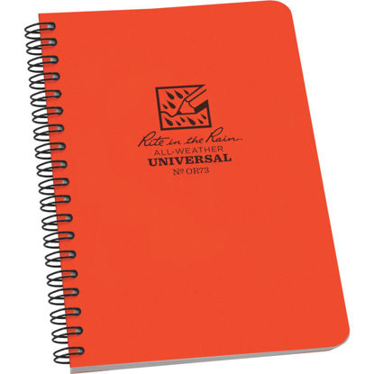 Picture of Rite in the Rain All-Weather 4-7/8 In. W x 7 In. H 32-Sheet Side Spiral Bound Notebook, Orange