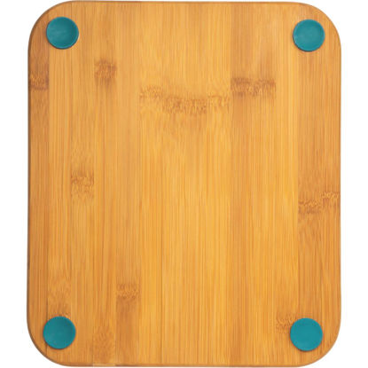 Picture of Core Natural Bamboo Lake Blue 12 In. Foot Grip Cutting Board