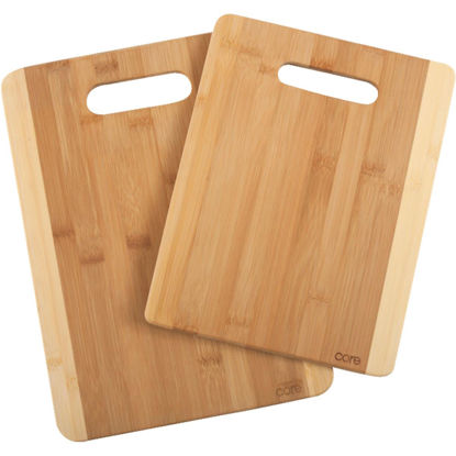 Picture of Core Daisy 2-Tone Natural Bamboo Cutting Board (2 Pack)