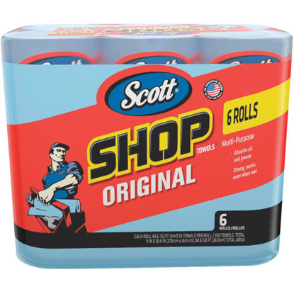 Picture of Scott 11 In. W x 10.4 In. L Disposable Original Shop Towel (6-Roll/330-Sheets)