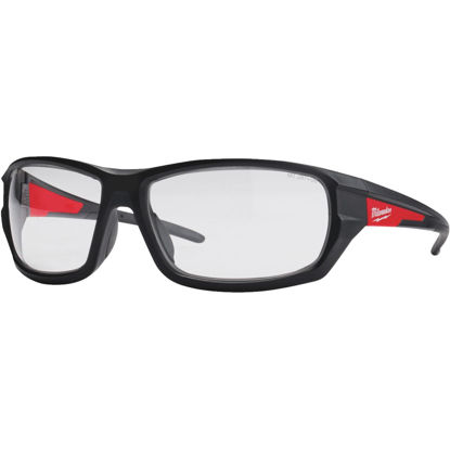 Picture of Milwaukee Red & Black Frame High Performance Safety Glasses with Clear Lenses