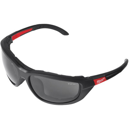 Picture of Milwaukee Red & Black Frame Gasketed High Performance Safety Glasses with Tinted & Polarized Lenses