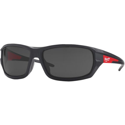 Picture of Milwuakee Red & Black Frame High Performance Safety Glasses with Tinted Lenses