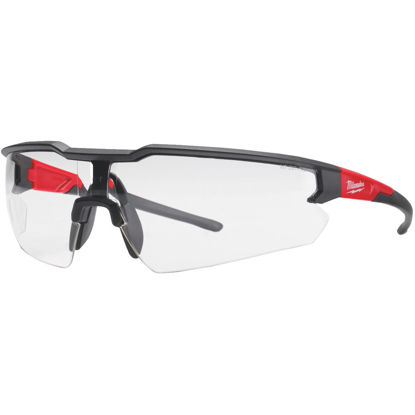 Picture of Milwaukee Red & Black Frame Safety Glasses with Clear Lenses