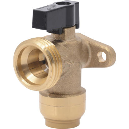 Picture of SharkBite 1/2 in. x 3/4 in. MHT Push-to-Connect Angle Washing Machine Valve