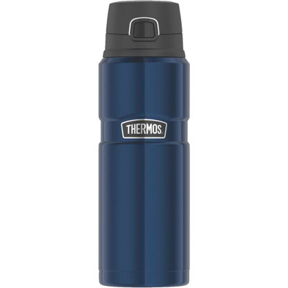 Picture of Thermos Stainless King 24 Oz. Midnight Blue Stainless Steel Drink Bottle