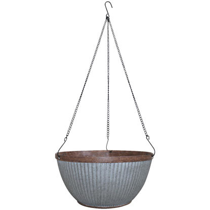 Picture of Southern Patio Westlake 12 In. Galvanized Resin Hanging Basket